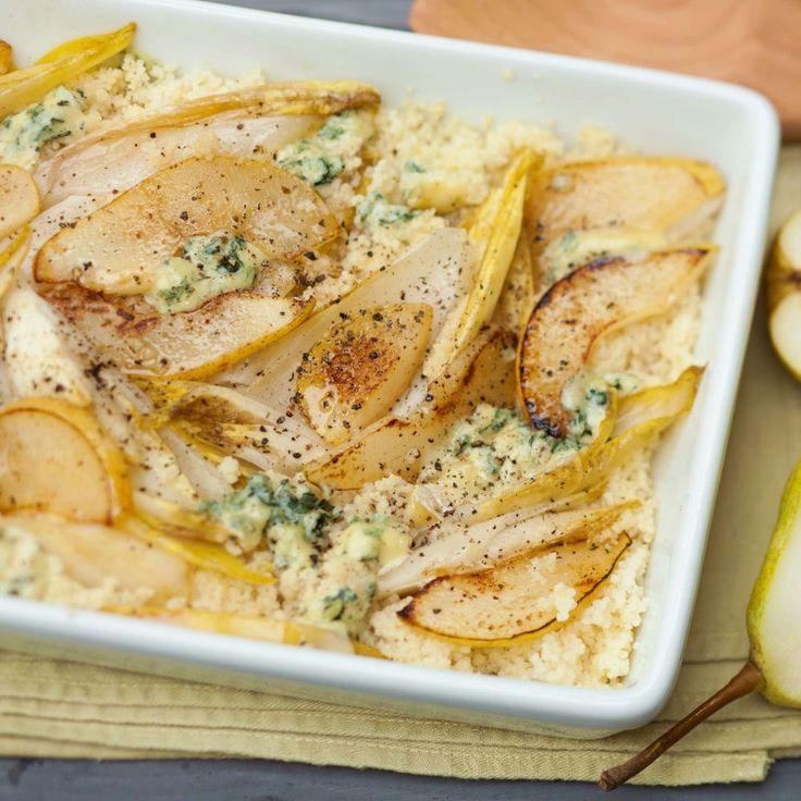 Gratinierter Chicorée mit Birnen und Couscous - Couscous gegen Quinoa oder Amaranth tauschen