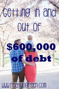 We have accumulated $600,000 of #studentloans over the last decade. Find out how we are getting out of it at www.redtwogreen.com