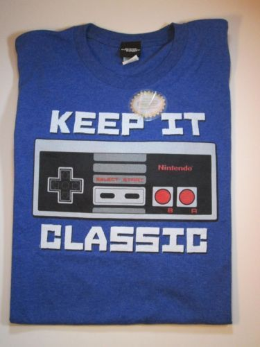 Nintendo Keep It Classic Controller Nes T-shirt Tshirt Size Xl Xlarge