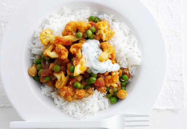 Assiette végétarienne de légumes à l'indienneVenez voir la recette de l'assiette végétarienne de légumes à l'indienne