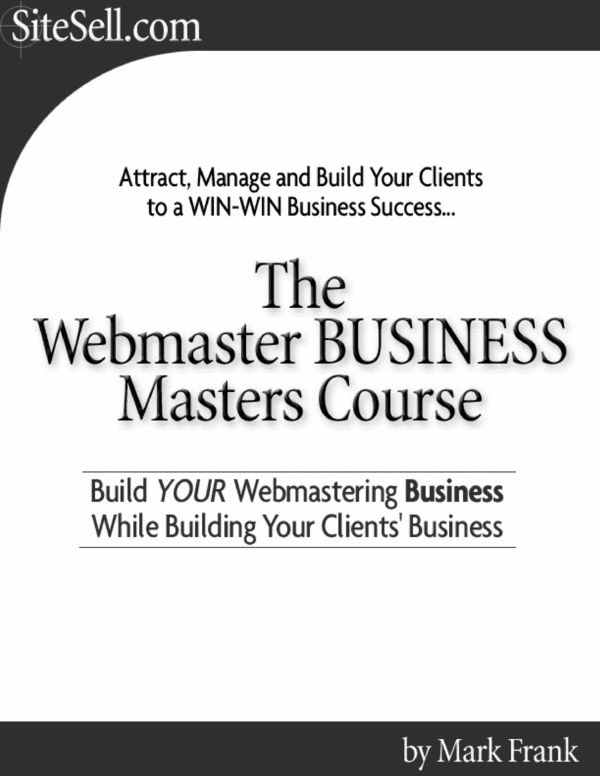Webmaster Business Master Course