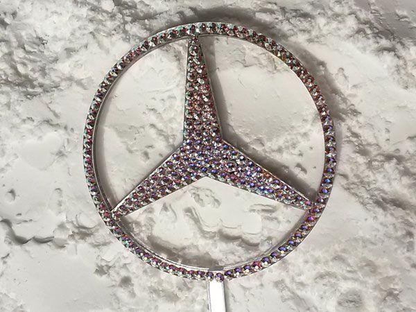 Mercedesz jel Swarovski kristályokkal - Mercedes-Benz with Swarovski