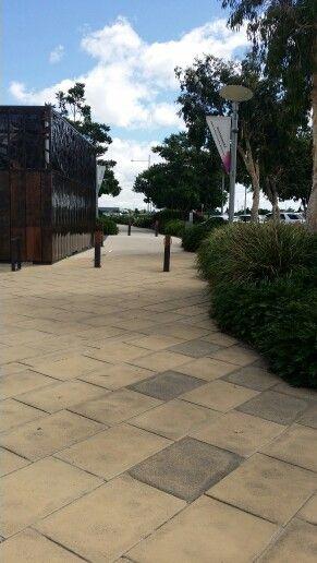 Northshore Hamilton, Brisbane. Pathway near cafe