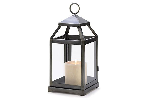 "Pair of 12"" Contemporary Lanterns, Black on OneKingsLane.com"