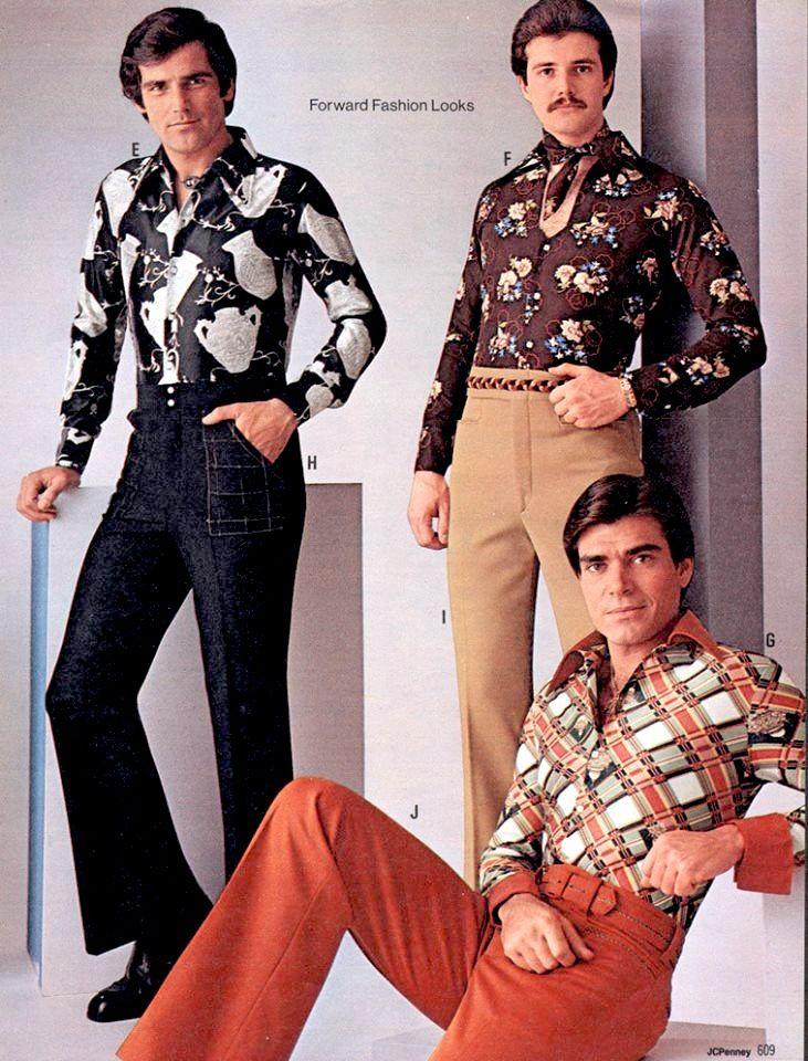 Nos anos 70 os homens abusavam das estampas