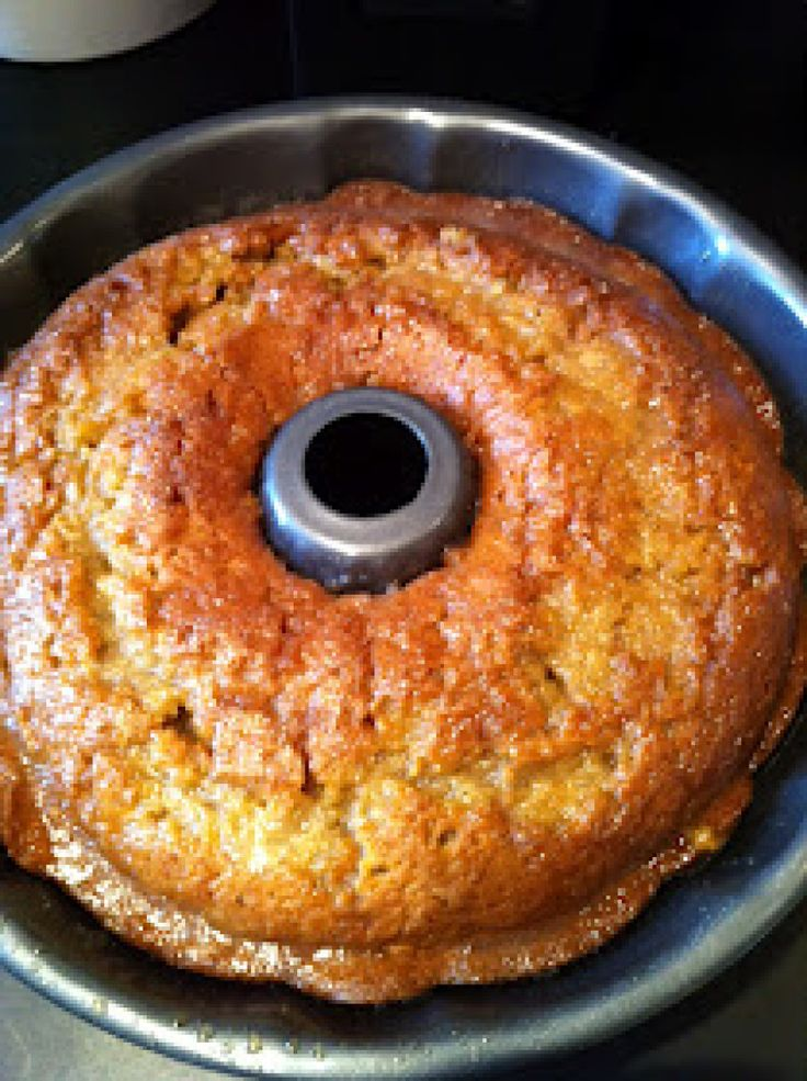 Crack Cake:  1 box Duncan Hines yellow cake mix. 1/4 c brown sugar. 1/4 c white sugar. 1 box vanilla pudding instant mix. 2 teaspoons cinnamon. 4 eggs. 3/4 c water. 3/4 c oil.