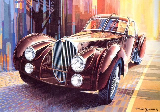 Bugatti For Sale >> Bugatti type 57 Atlantic by Paul Bracq | Dessin voiture, Art de l'automobile et Bugatti