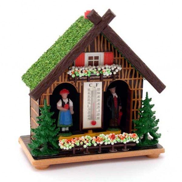 WEERHUISJE KLASSIEK THERMOMETER - Vogelhuisjes en Weerhuisjes | Holland Souvenir Shop NL