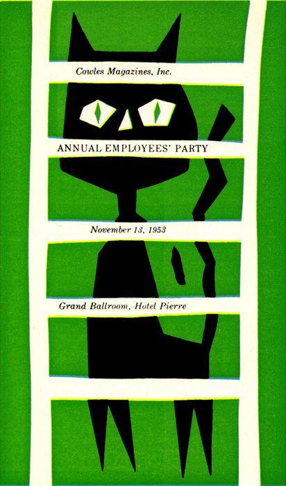 Cowles Magizines 1953 Annual Employees Party - Paul Hartley.  via Baubauhaus.