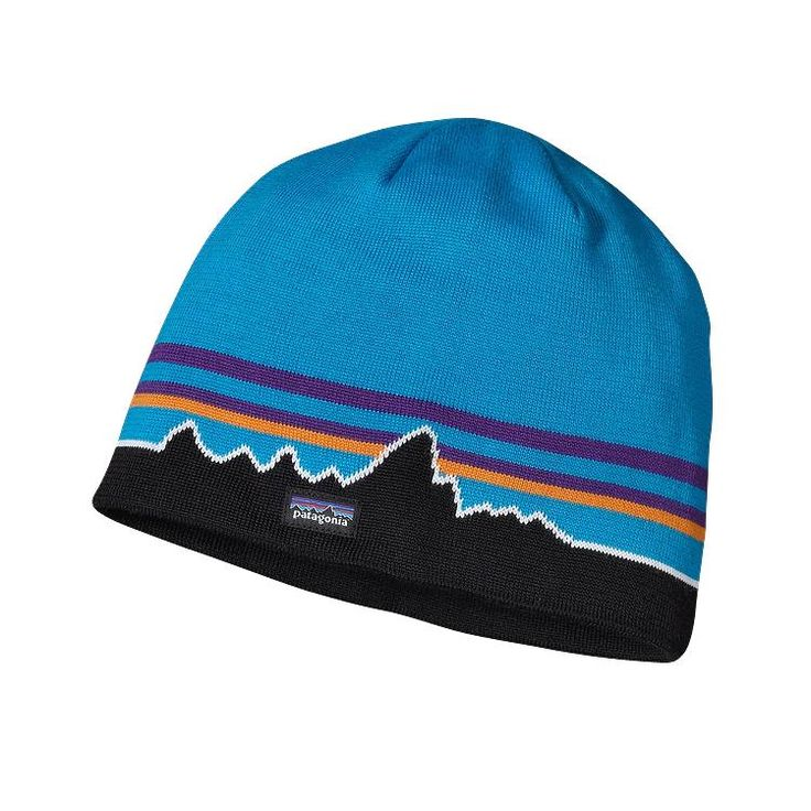 Patagonia Beanie Hat - Classic Fitz Roy: Andes Blue CZAB