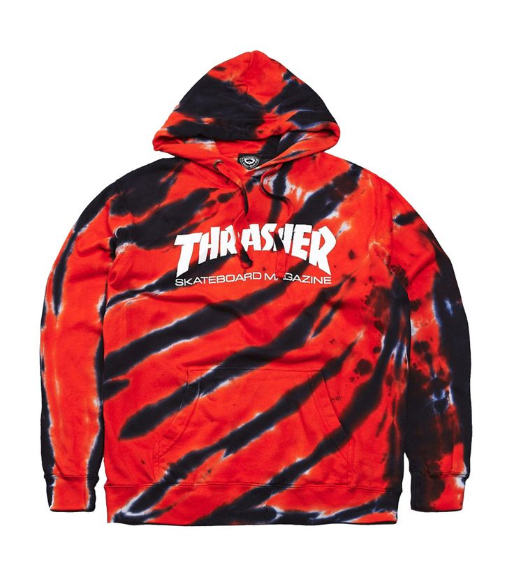 Thrasher Tie-Dye Tiger Stripe Hoodie Hoodie | Vencer NY