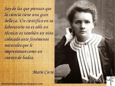 CITA DEL DÍA: MARIE CURIE