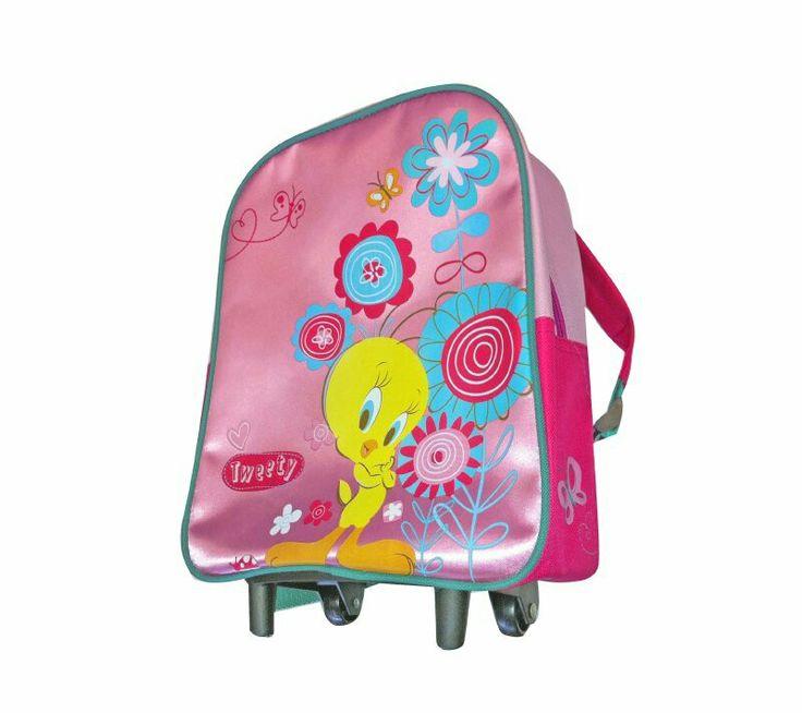 Mochila pre escolar con carro looney tweety