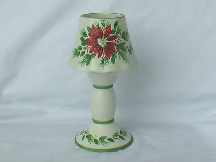 Tealight Lamps Christmas Poinsettia Tealight Lamp