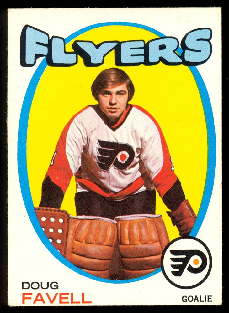 1971 72 Topps 72 DOUG FAVELL EX-NM PHILADELPHIA FLYERS HOCKEY CARD #PhiladelphiaFlyers