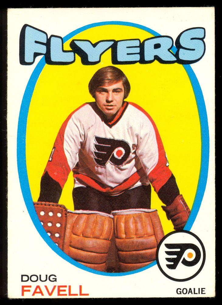 1971 72 Topps 72 DOUG FAVELL EX-NM PHILADELPHIA FLYERS HOCKEY CARD #PhiladelphiaFlyers
