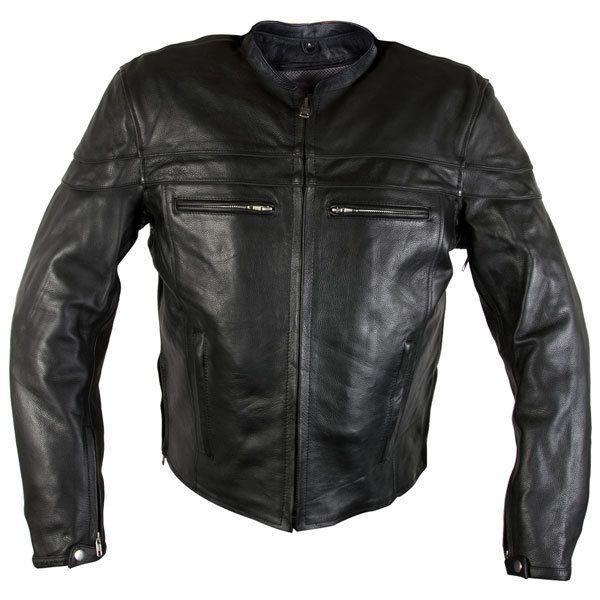 Xelement 6225 Speedster Mens Black Armored Cowhide Leather Motorcycle Jacket #Xelement #Motorcycle