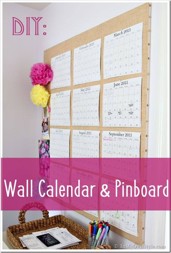 Diy Wall Calendar Organizer : Images about organizing your life on pinterest