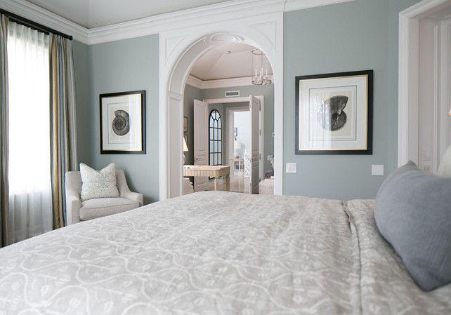 """Benjamin Moore Yarmouth Blue HC-150″Bedroom Design Ideas. Bedroom Bedding, Bedroom Decor. #Bedroom"