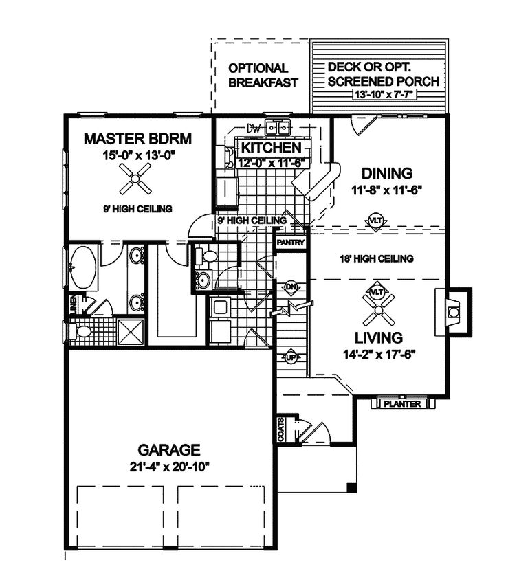 Contemporary House Plan First Floor - 013D-0013 | House ...