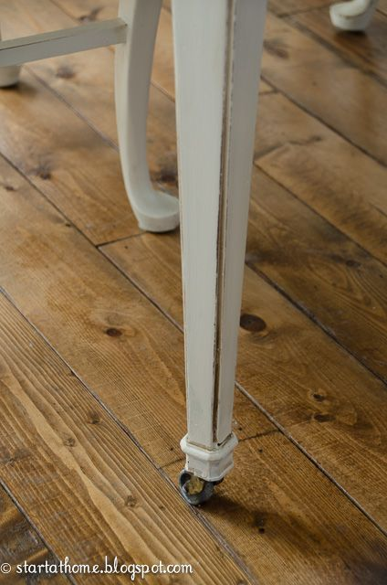 Hometalk :: Repainting Kitchen Table in White and Brown