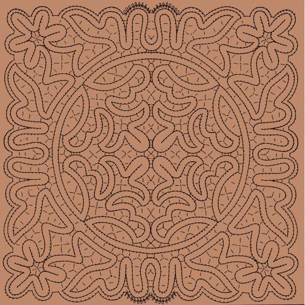 Disegno centro n. 084 - Il Giardino dei Punti, Circolo di ricami, pizzi e decori