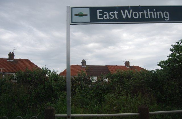 East Worthing Railway Station (EWR) in Worthing, West Sussex