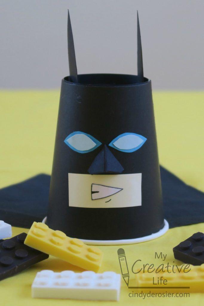 LEGO Batman Party Cup   Fun Family Crafts