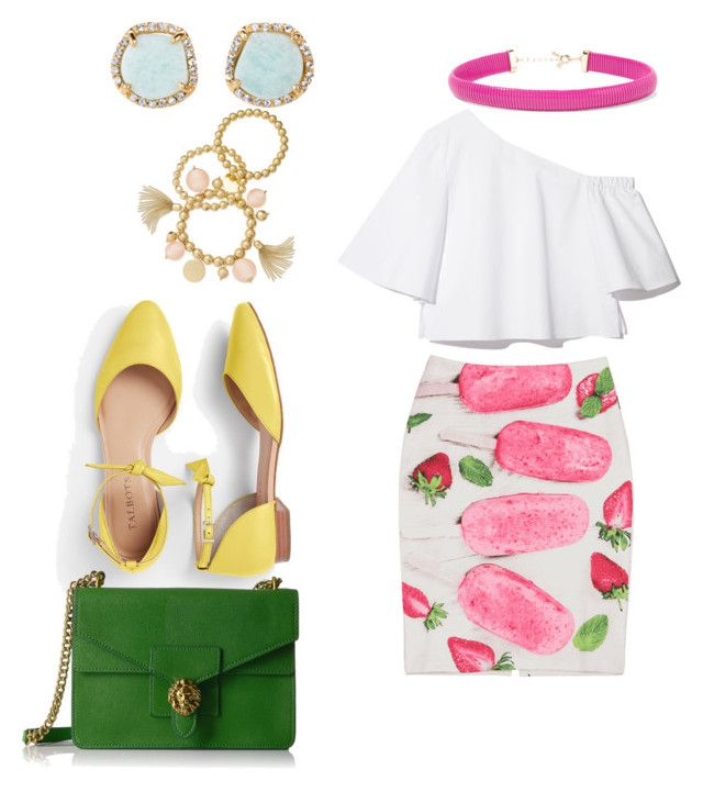 """""""Colorful summer look"""" by anielle-fashion on Polyvore featuring Talbots, Anne Klein, Kenneth Jay Lane, Louise et Cie and INC International Concepts"""