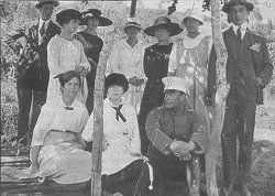 Juanita en Algarrobo con su familia
