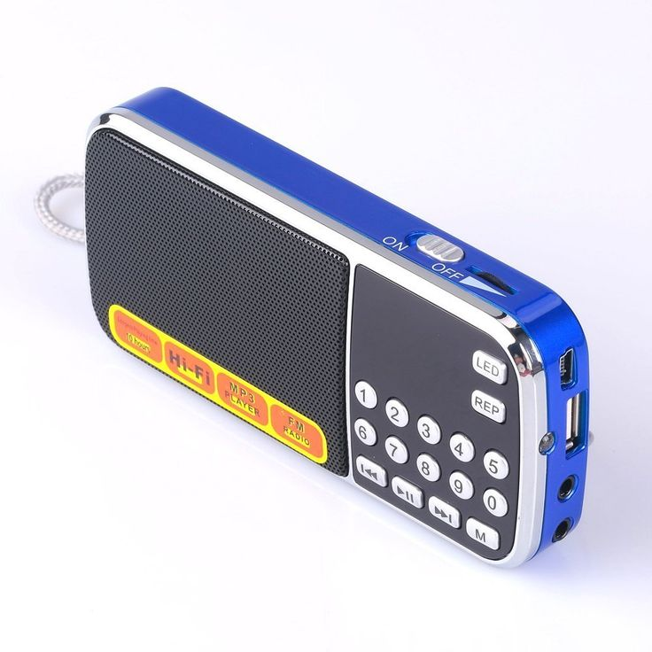 Mfine Portable Mini USB FM Radio Speaker Music Player TF Card For PC iPod Phone (088 Blue)