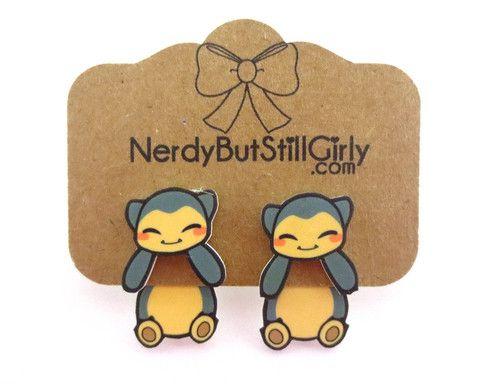 Chibi Snorlax Cling Earring – Nerdy But Still Girly