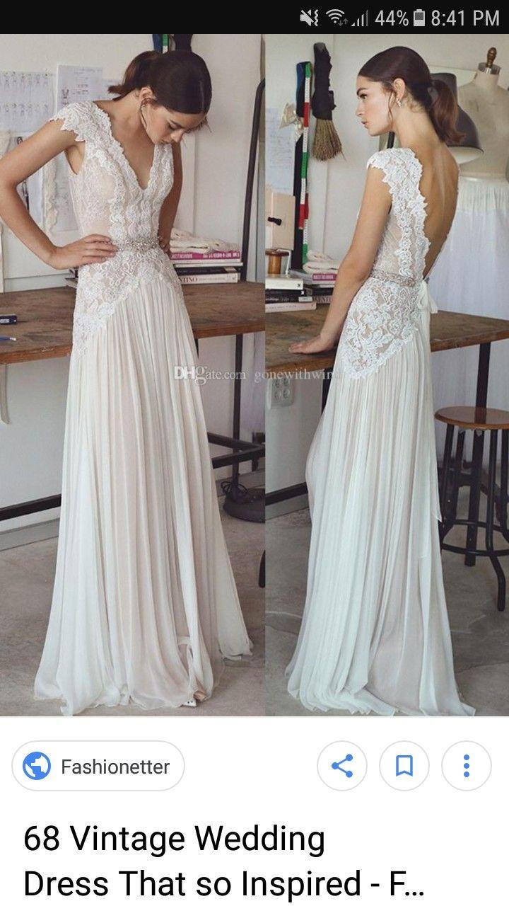 Vintage Dress Short Wedding Dress Wedding Dresses Beaded Chiffon Wedding Dress Beach [ 1280 x 720 Pixel ]