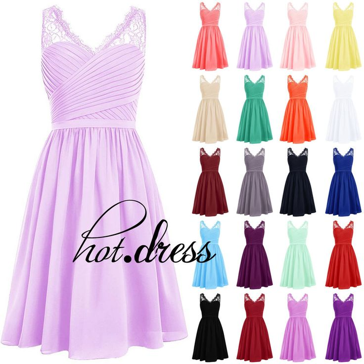 2016 STOCK Formal Prom Party Cocktail Gown Short Bridesmaid Evening Dresses 6-20…