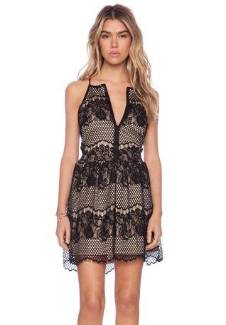 LIV Sandra Lace Dress in Black   REVOLVE