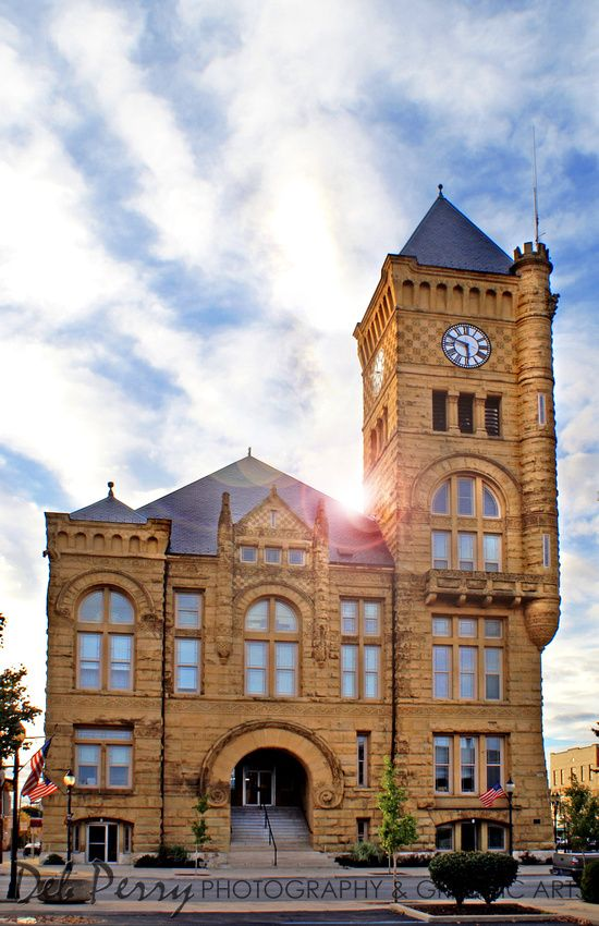 Wells County Courthouse Bluffton Indiana Indiana
