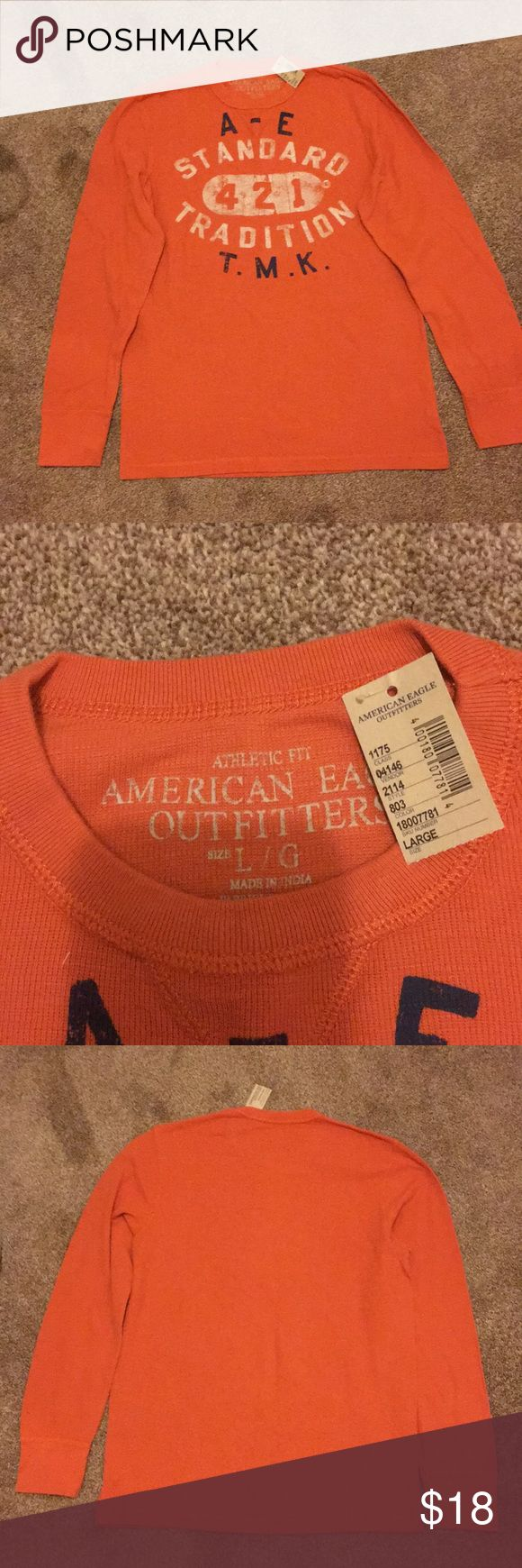 American eagle men's thermal American eagle men's thermal long sleeve shirt. NWT Size large American Eagle Outfitters Shirts Tees - Long Sleeve