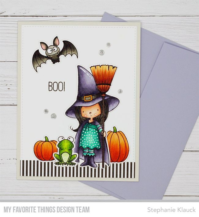 Witch Way Is the Candy? stamp set and Die-namics - Stephanie Klauck #mftstamps