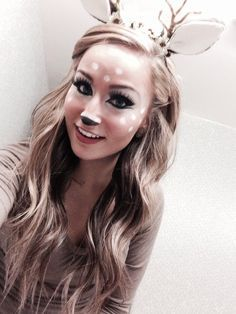 Deer costume and makeup