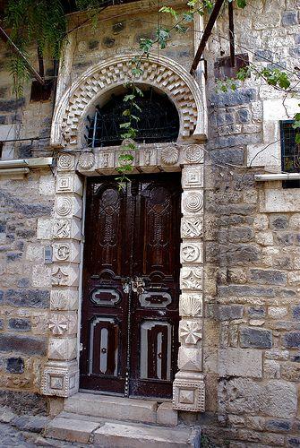Osmanlı Konak kapısı Halep Suriye
