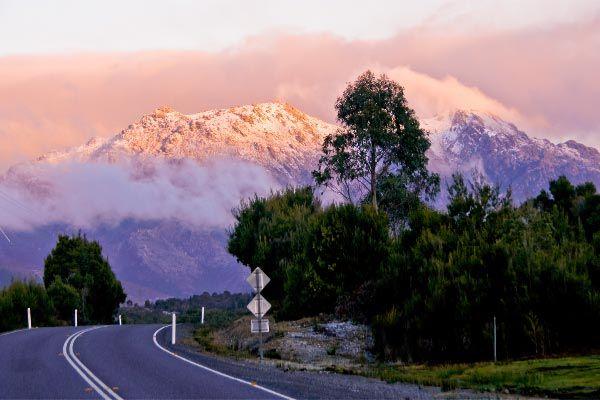 As the sun sets over Mt. Owen, west coast Tasmania ©Carol Haberle
