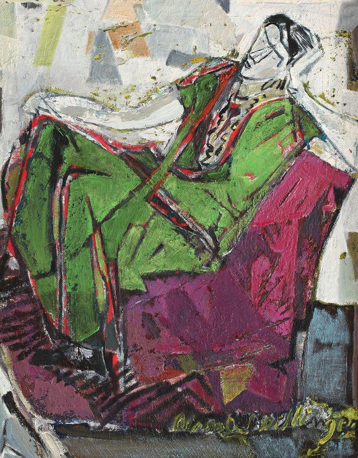 Alma Redlinger, Green armchair