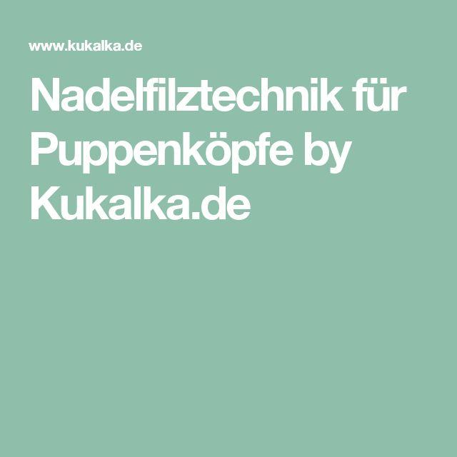 Nadelfilztechnik für Puppenköpfe by Kukalka.de