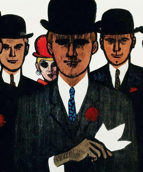#Men_fashion illustration by René Gruau.