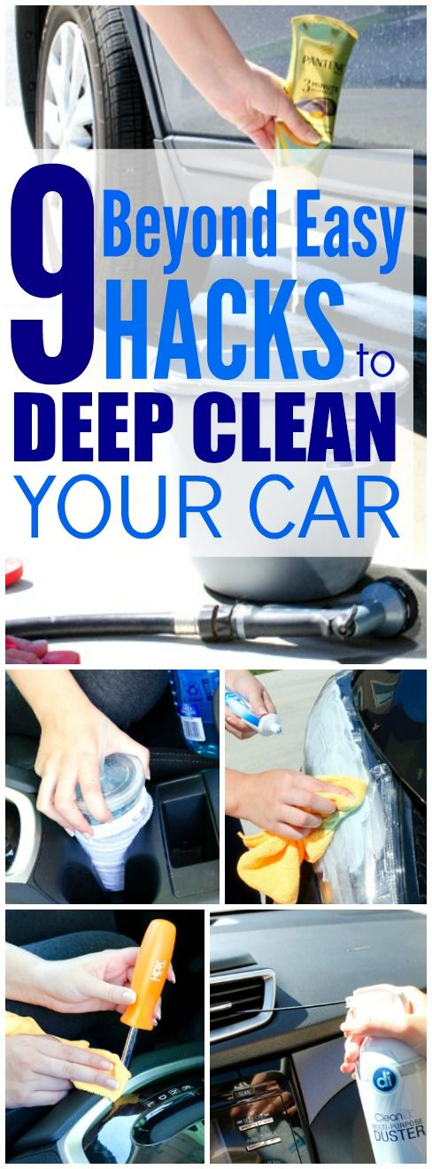 9 brilliant car cleaning hacks that are beyond easy haushalte. Black Bedroom Furniture Sets. Home Design Ideas