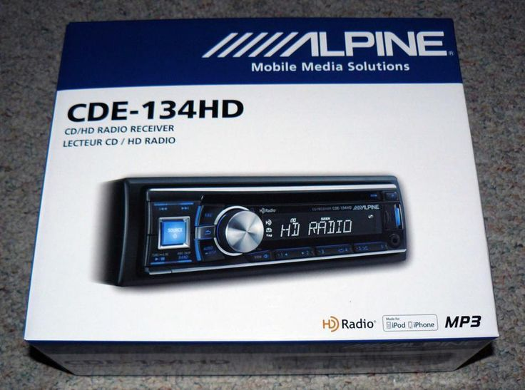 Alpine CDE-134HD CD Player Built-in HD Radio  MOSFET amplifier Front  USB AUX