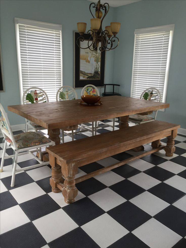 white trestle kitchen table rustic custom pine matching bench oak