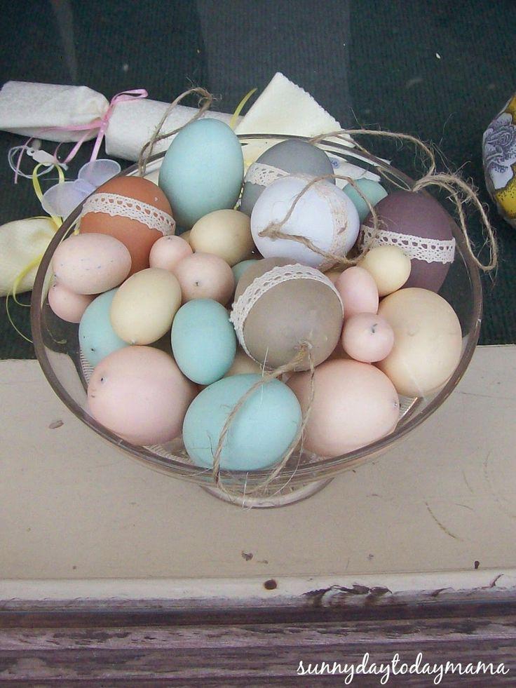 Antique eggs http://sunnydaytodaymama.blogspot.co.uk/2010/03/spring_31.html