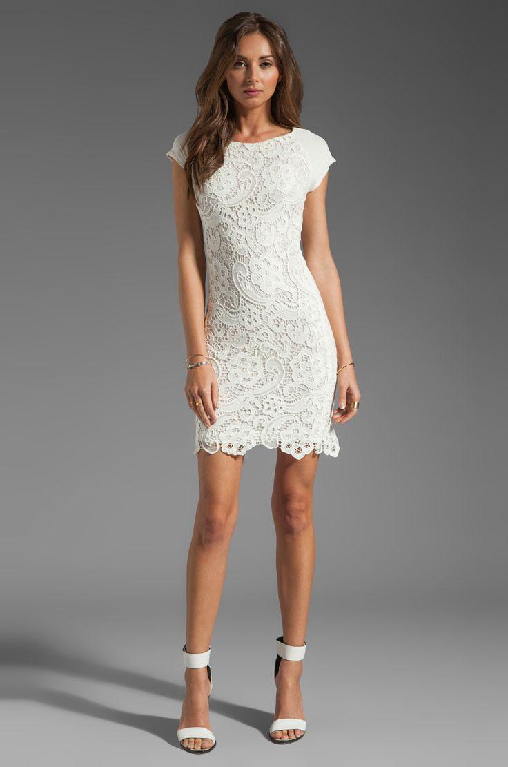 Rebecca Taylor All Lace Dress en Crème | REVOLVE
