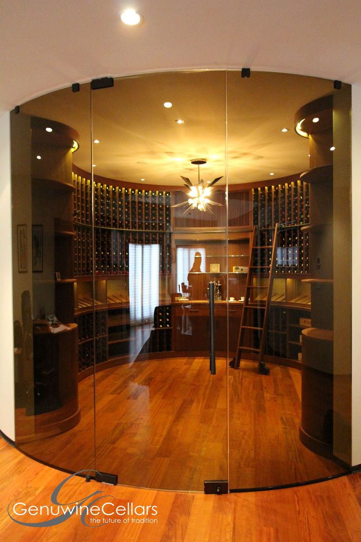 Seamless glass wine rooms and wine cellars provide a clean modern aesthetic  with the added benefit of transparency to display your collection.